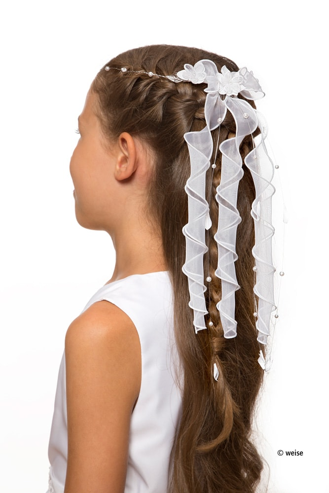 Kommunionfrisur Haarschmuck Zum Kleid