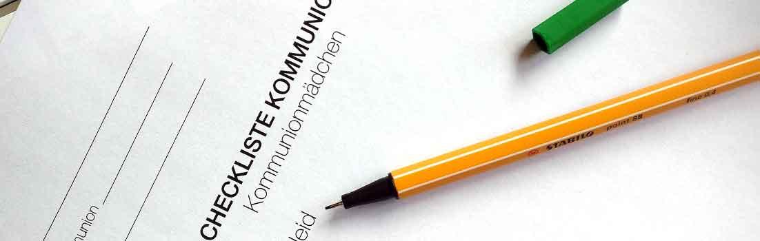 Kommunion-Checkliste - Kommunionkleid - KommunionOnline