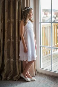 Kurzes Kleid Crinklechiffon - BianCorella